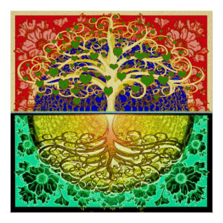 Tree of Life Hearts Poster