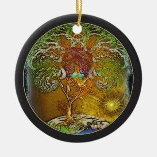 Tree Of Life Illustration Ceramic Ornament