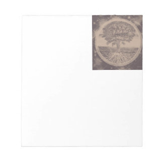 Tree of Life in Brown Notepad