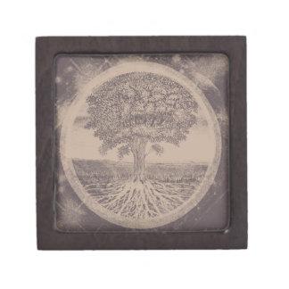 Tree of Life in Brown Premium Jewelry Box