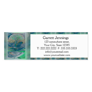 Tree of Life in Pale Green Colors Business Card