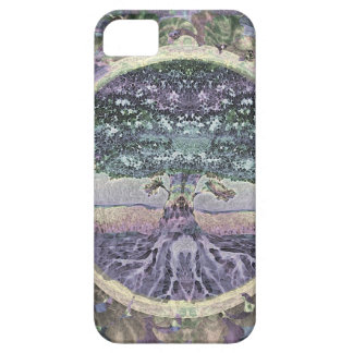 Tree of Life in Rainbow Metal Colors iPhone 5 Covers