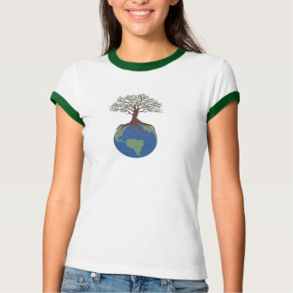 Tree of Life Ladies Ringer T-Shirt