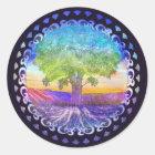 Tree of Life Love, Peace, Balance Classic Round Sticker