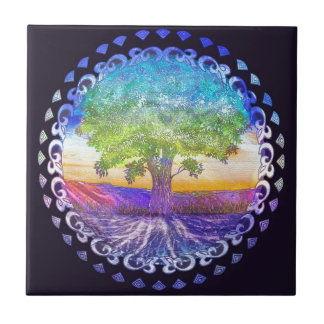 Tree of Life Love, Peace, Balance Tile