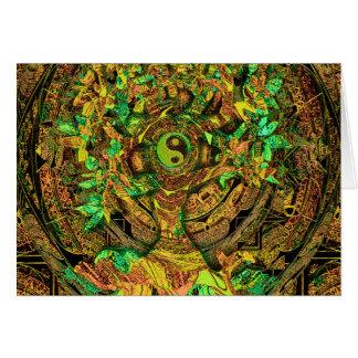 Tree of Life Mandala Dance Card