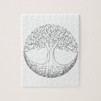 Tree of Life Mandala Jigsaw Puzzle