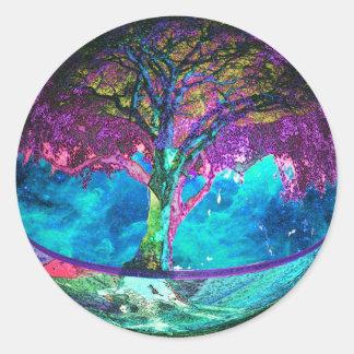 Tree of Life Meditation Classic Round Sticker