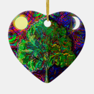 Tree of Life Night and Day Ceramic Ornament