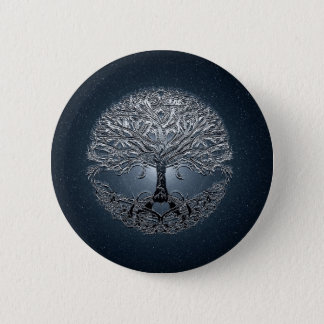 Tree of Life Nova Blue 2 Inch Round Button