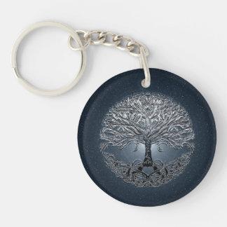 Tree of Life Nova Blue Keychain