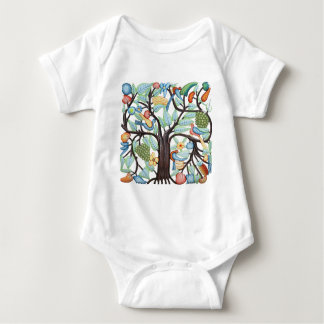 Tree of Life - pastel Baby Bodysuit