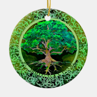 Tree of Life Patience Ceramic Ornament