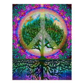 Tree of Life Peace Poster
