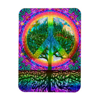 Tree of Life Peace Rectangular Photo Magnet