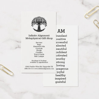 Tree of Life Positive Affirmations I AM Business Card