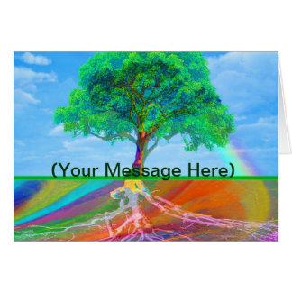 Tree of Life Rainbow Card
