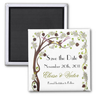 Tree of life Save the Date magnet (v)