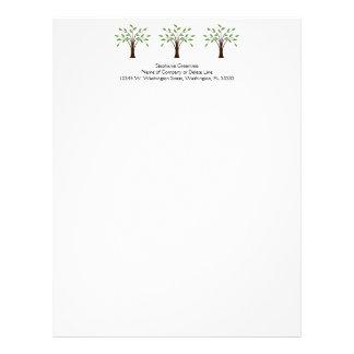 Tree of Life Simple Trees Nature Custom Business Letterhead Template