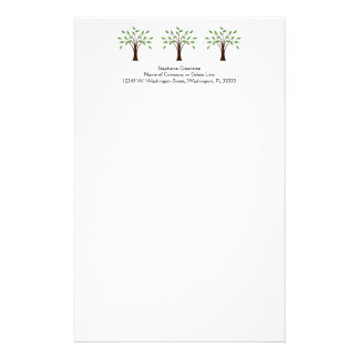 Tree of Life Simple Trees Nature Custom Name Personalized Stationery