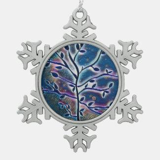 Tree of life snowflake ornament