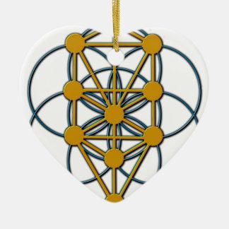 Tree of Life SOL 1 Ceramic Heart Ornament