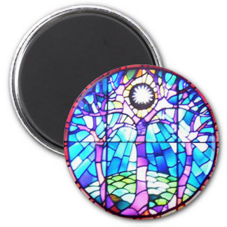 Tree of Life Stained Glass Magnet