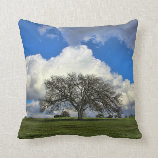 """Tree of Life"" Style Natural Landscape Pillow"