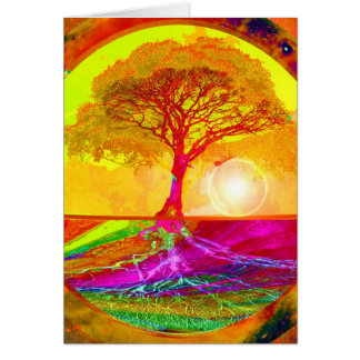 Tree of Life Sunrise Card