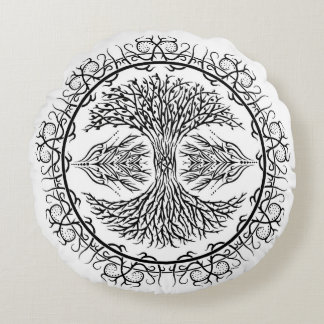 Tree of Life Tribal Pillow 16""