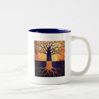 Tree of life two tone mug