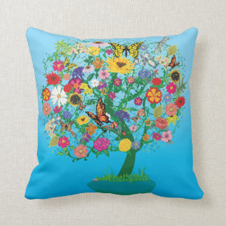 Tree Of Life Vector Graphic Pillow