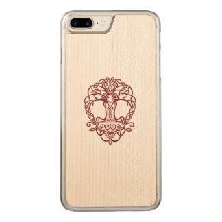 Tree of life - viking norse design carved iPhone 8 plus/7 plus case