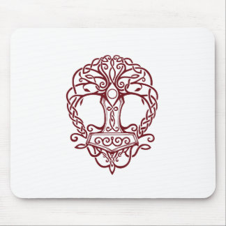 Tree of life - viking norse design mouse pad