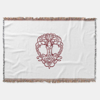Tree of life - viking norse design throw blanket