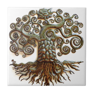 TREE OF LIFE VINTAGE ART TILE