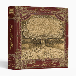 Tree of Life Vintage Look Artwork Vinyl Binder