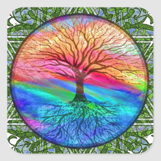 Tree of Life - Vitality Square Sticker