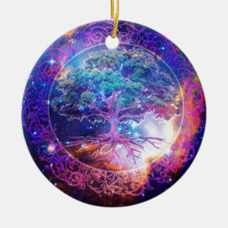 Tree of Life Wellness Ceramic Ornament