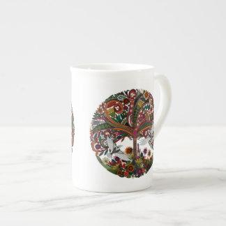 tree of life white tea cup