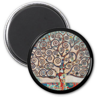 Tree of Life with Birds 2 Inch Round Magnet