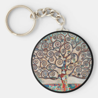 Tree of Life with Birds Basic Round Button Keychain