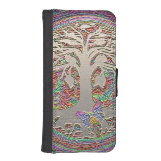 Tree of Life with Butterfly iPhone SE/5/5s Wallet Case