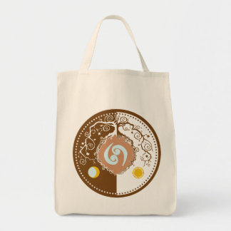 Tree of Life with Cancer Zodiac Symbol Tote Bag