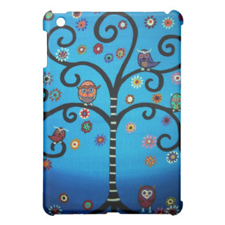 TREE OF LIFE WITH OWLS IPAD CASE