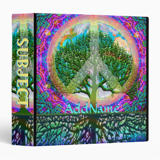 Tree of Life World Peace Vinyl Binder