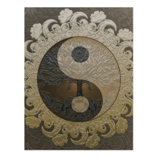 Tree of Life Yin Yang by Amelia Carrie Postcard