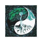 Tree of Life Yin Yang Moonlight Night Canvas Print