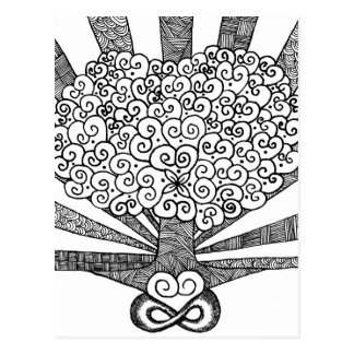 Tree of Love (B/W) Postcard