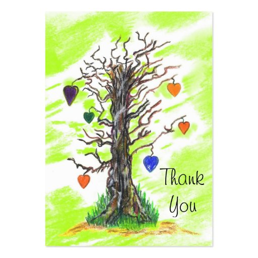 Tree of Love Lime Thank You  Gift Tags Business Card Templates